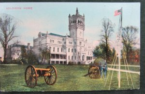 SOLDIERS HOME ~ United States Army Veterans, Scott Building Vintage Postcard