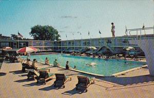 Massachusetts Hyannis Harborview Motel With Pool 1966