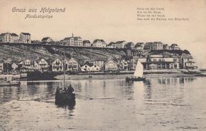 Sailboat, Nordostspitze, Gruss Aus Helgoland (Schleswig-Holstein), Germany, 1907