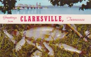 Greetings From Clarksville Tennessee With L & N Railroad Bridge Over Kentucky...