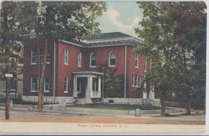 CONCORD NH - FOWLER LIBRARY 1910s era / DEMOLISHED