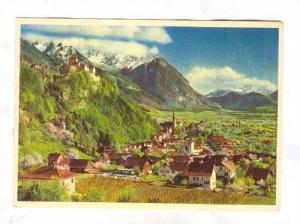 Ruling Prince Franz-Joseph II's castle overlooking the capital Vaduz, Princip...