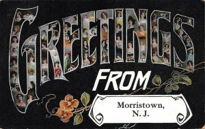Greetings from Morristown, New Jersey, Early  Postcard, Used in 1909