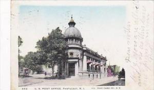 Rhode Island Pawtucket Post Office 1906