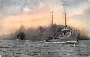 Military Battleship Postcard, Old Vintage Antique Military Ship Post Card How...