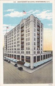 SPARTENBURG, South Carolina; Montgomery Building, 30-40s