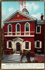 Postcard PA Pennsylvania Philadelphia Carpenter's Hall Unposted