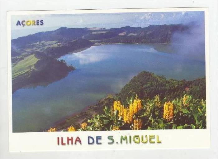 Aerial View, Lake Furnas, Ilha de Sao Miguel, Acores,1940-1960
