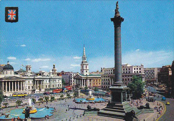 England London Trafalgar Square and Nelson's Column