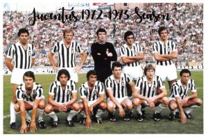 Football Soccer Italian Postcard, Juventus Team 1972-73 Season #996