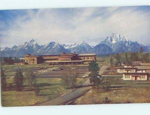Unused Pre-1980 LODGE SCENE Jackson Hole Wyoming WY J6987