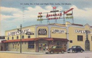 Mexico Juarez Lobby No 2 Cafe and Night Club 1961 Curteich sk3331