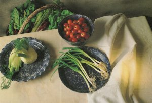 Fennel Butterhead Lettuce Celery Radiocio Spring Onions Postcard
