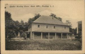 Flushing Queens Long Island NY Quaker Meeting House c1910 Postcard