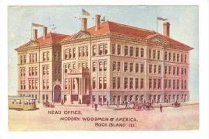 Head Office, Modern Woodmen Of America, Rock Island, Illinois, PU-1908