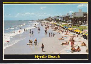 Swimming, Sun Bathing Near Hotel Strip, Greetings From Myrtle Beach, South Ca...