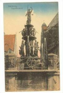 View Of Tugendbrunnen, Nurnberg, Germany, 1900-1910s