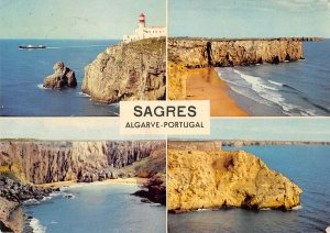B110797 Portugal Sagres Lighthouse Cliffs Sea Boat bateau Panorama
