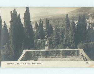 old rppc VILLA D'ESTE TERRAZZA Tivoli Italy HM2032