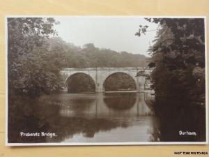 c1920's RPPC - Prebends Bridge - Durham - by John R Edis