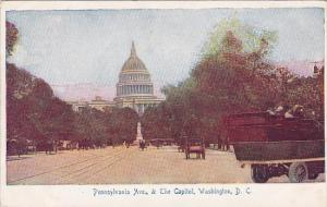 Pennsylvania Avenue & The Capitol Washington DC 1906