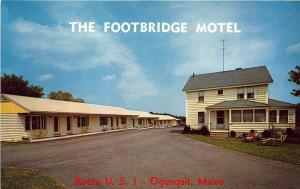 Ogunquit Beach ME Footbridge Motel US 1 Postcard