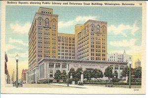 Wilmington, DE - Rodney Square, Public Library and Delaware Trust