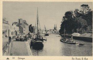 QUIMPER , France , 1930s ; Les Quais , Le Port