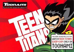 Postcard TOONAMI Teen Titans, Cartoon Network, Media Advertising Card