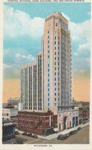RICHMOND , Virginia , 1910s ; Central National Bank