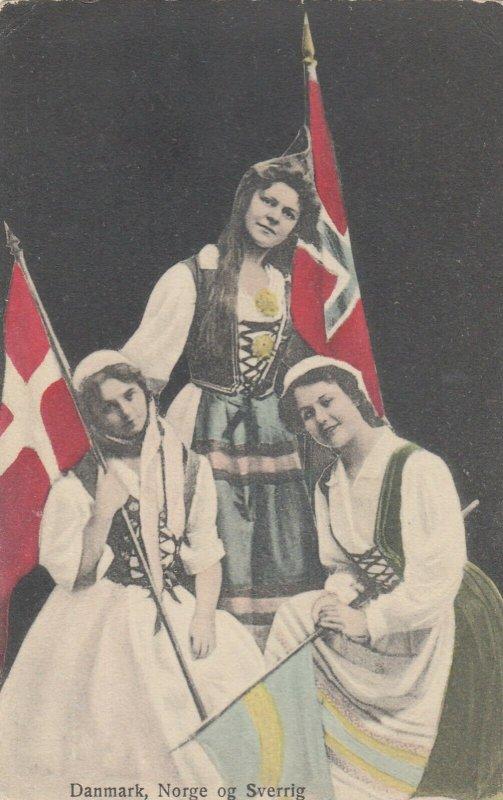 Girls & Flags of Danmark , Norge og Sverrig (Sweden), 00-10s