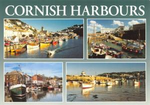 Postcard Cornwall Cornish Harbours, Looe, Coverack, Padstow, St Ives, Boats, Sea
