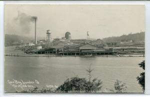 Coos Bay Lumber Co Mill Marshfield Oregon RPPC Real Photo postcard