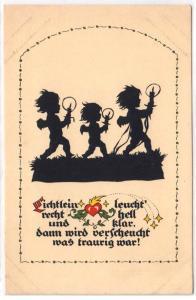 Silhouette -Plifchke-Karte, Nr 3 Berlag: Berner Klog, Zittau