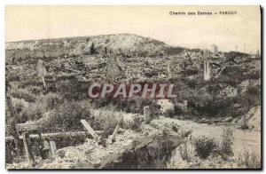 Old Postcard Chemin des Dames Pargny Army