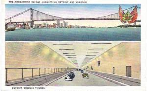 Detroit-Windsor Tunnel, Windsor, Ontario, Canada. Also, Ambassador Bridge