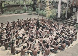 Tjak, Tjak, Tjak Sounding Out From The Temple Yard, Ketjak Dance, BURMA, 19...