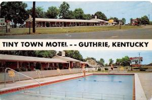 Guthrie Kentucky~Tiny Town Motel~Bathing Beauties at Pool~1950s PC