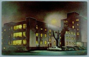 Grand Forks North Dakota~Full Moon~Deaconess Hospital~Evanson 1940s Fastbacks PC