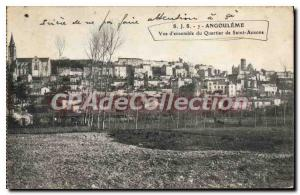 Postcard Old ANGOULEME district of Saint-Ausone