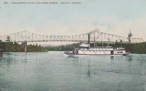 Oregon Albany Willamette River And Steel Bridge
