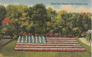Floral American Flag at Elizabeth Park - Hartford CT, Connecticut - Linen