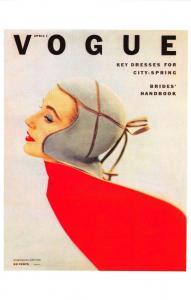 Postcard VOGUE Magazine Iconic Cover Fashion Key Dresses April 1 1952