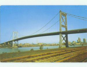 Unused Pre-1980 BRIDGE SCENE Toledo Ohio OH HQ9316