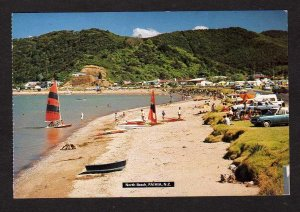 NZ View North Beach Paihia New Zealand Postcard PC Carte Postale