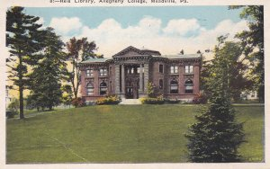 MEADVILLE, Pennsylvania, 1928, Reis Library, Allegheny College