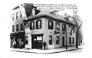 BALTIMORE MD~STAR SPANGLED BANNER FLAG HOUSE-NATIONAL ANTHEM~PHOTO POSTCARD