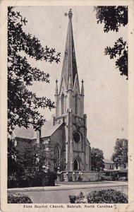 First Baptist Church Raleigh North Carolina 1944