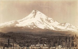 OREGON 1930s RPPC Real Photo Postcard Mt. Hood from Mt. Hood Lodge