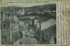 brazil, SÃO JOÃO DEL-REI, Minas Gerais, Rua Moreira Cesar (1906) André Bello